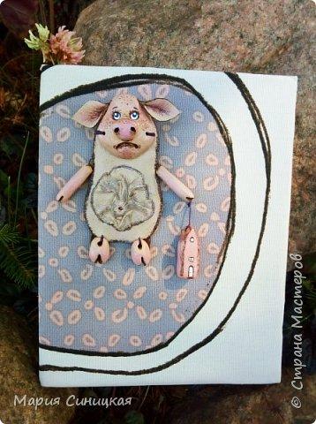 Давно задумывала сделать подобную работу - блокнот с подвеской. фото 3