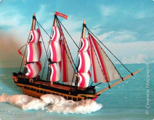 """Кораблик для Армандо.  Делался очень долго и сложно, но теперь, пока есть модель, никакой трезубец Посейдона не отправит """"Марию"""" на дно. фото 1"""