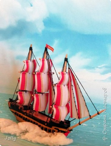 """Кораблик для Армандо.  Делался очень долго и сложно, но теперь, пока есть модель, никакой трезубец Посейдона не отправит """"Марию"""" на дно. фото 5"""