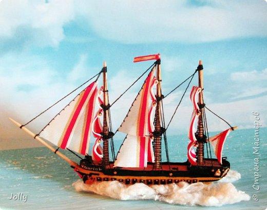 """Кораблик для Армандо.  Делался очень долго и сложно, но теперь, пока есть модель, никакой трезубец Посейдона не отправит """"Марию"""" на дно. фото 3"""
