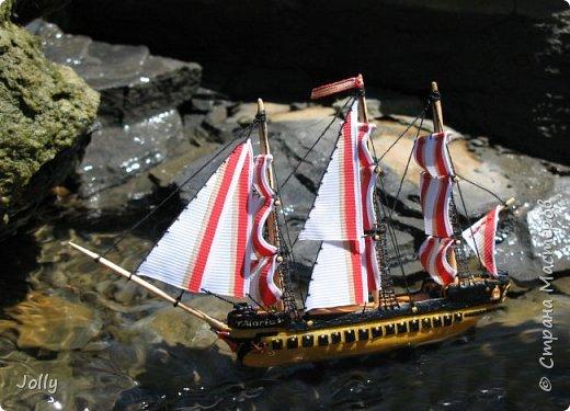 """Кораблик для Армандо.  Делался очень долго и сложно, но теперь, пока есть модель, никакой трезубец Посейдона не отправит """"Марию"""" на дно. фото 4"""