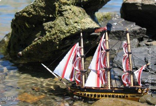 """Кораблик для Армандо.  Делался очень долго и сложно, но теперь, пока есть модель, никакой трезубец Посейдона не отправит """"Марию"""" на дно. фото 2"""