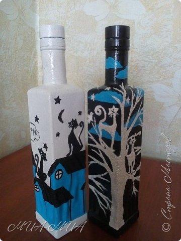 Доброго времени суток, Страна!! Продолжаю готовиться к свадьбе Дашеньки. К шкатулке  https://stranamasterov.ru/node/1147715  добавились еще 4 бутылки. Две - костюмы на бутылки и две под домашние напитки (молодые нальют в них свои домашние напитки). фото 6