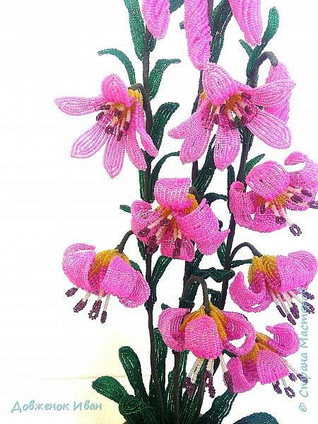 Лилия Кудрявая, сделана по мк Светланы Макаровой. Высота лилии 70см. фото 5