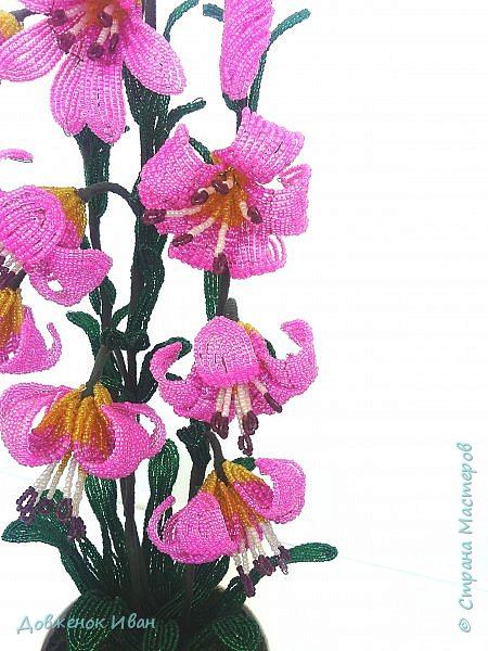 Лилия Кудрявая, сделана по мк Светланы Макаровой. Высота лилии 70см. фото 6