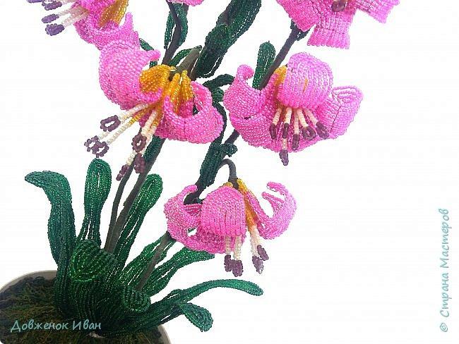 Лилия Кудрявая, сделана по мк Светланы Макаровой. Высота лилии 70см. фото 7
