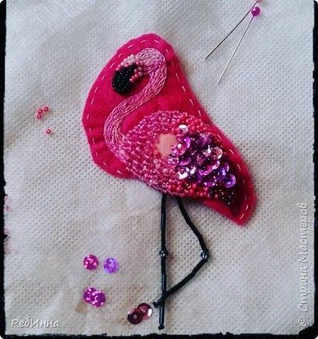 Фламинго вышила для старшей дочери на юбилей)))  фото 2
