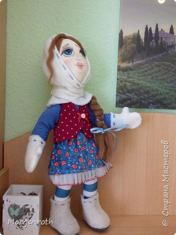 Куклу шила в подарок на день рождения подруги. фото 1