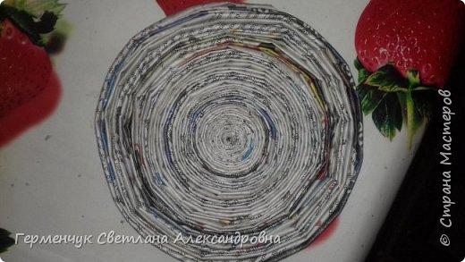 Добрый вечер СМ!   В Интернете  увидела интересное кашпо из бумажных трубочек  и  попробовала  сделать   .Вот  как я делала. фото 6