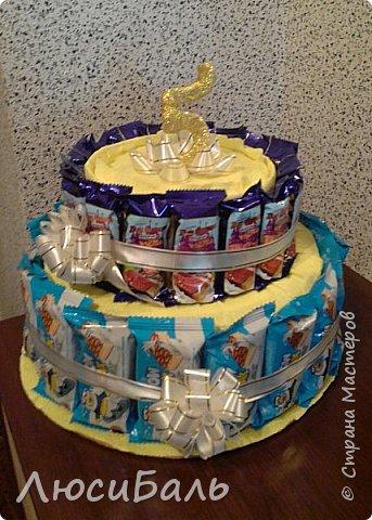 Конфетный тортик для девочки. фото 4