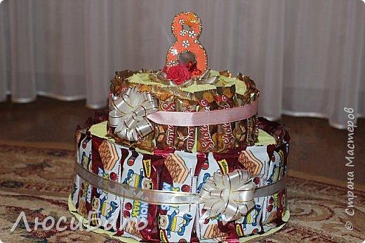 Конфетный тортик для девочки. фото 1