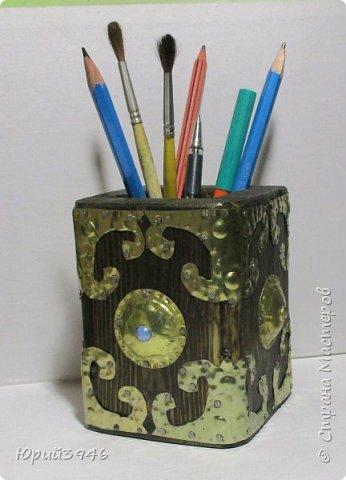 Стакан для карандашей. Размер 8х8х10 см. фото 1