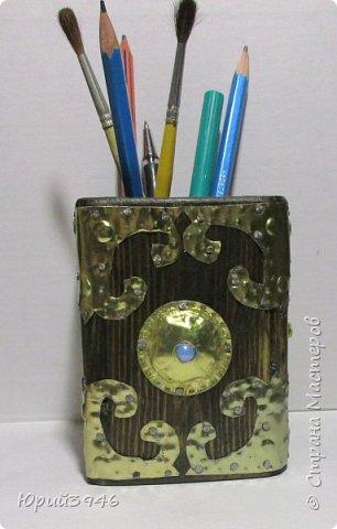 Стакан для карандашей. Размер 8х8х10 см. фото 2