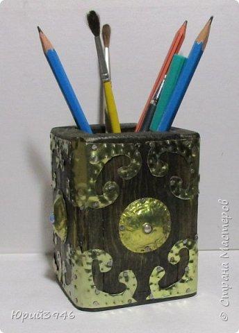 Стакан для карандашей. Размер 8х8х10 см. фото 3