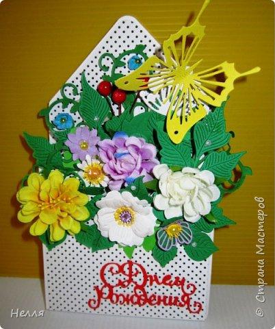 """Такие подарки сделала для своих близких. Очень понравилось делать цветочный конверт, получила новый нож """" Любимые листочки"""" и сразу использовала  его. фото 2"""
