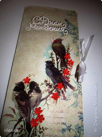 """Такие подарки сделала для своих близких. Очень понравилось делать цветочный конверт, получила новый нож """" Любимые листочки"""" и сразу использовала  его. фото 5"""