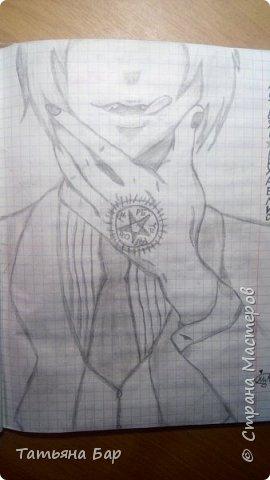"""Доброго времени суток, дорогие жители Страны Мастеров! Сегодня я покажу вам свои аниме рисунки. Все эти рисунки я рисовала на улице, я брала с собой карандаши, ластик и черную ручку. На первом рисунке изображён Грелль Сатклифф.  Все персонажи будут из аниме """"Тёмный дворецкий"""".  фото 5"""