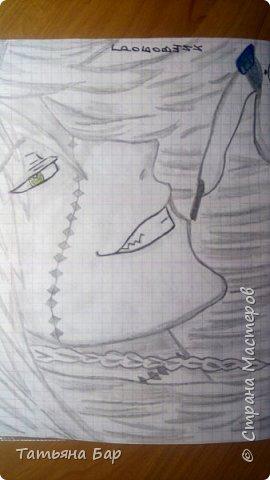 """Доброго времени суток, дорогие жители Страны Мастеров! Сегодня я покажу вам свои аниме рисунки. Все эти рисунки я рисовала на улице, я брала с собой карандаши, ластик и черную ручку. На первом рисунке изображён Грелль Сатклифф.  Все персонажи будут из аниме """"Тёмный дворецкий"""".  фото 3"""