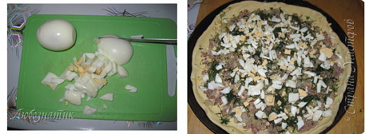 Здравствуйте дорогие друзья и гости!  Как же я соскучилась по Стране Мастеров! Лето, огород и дела по хозяйству... Времени на творчество очень мало...  Сегодня я к вам рецептом рыбного пирога с укропом.  Рецепт проверен, вкусно!!!  Продукты: Из этого количества теста получается два больших пирога  Тесто: 0,5 л  кефира 2 яйца 100 г маргарина 0,5 чайной ложки соли 0,5 чайной ложки сахара 0,5 чайной ложки пищевой соды Мука  Начинка: (количество продуктов на два пирога) 1 банка консервированной сайры Репчатый лук 4 шт Яйца 4 шт Укроп свежий или свежезамороженный (по вкусу) 200 г твердого сыра  фото 19