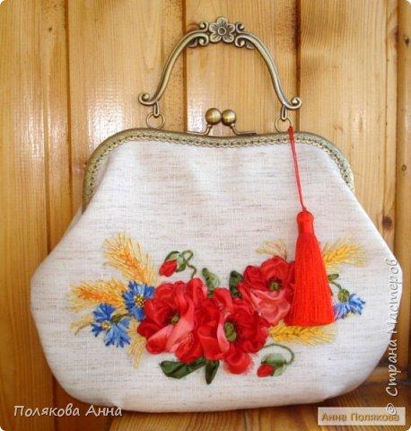 Льняной комплект - сумочка+очечник. Сумочка - высота 20см, максимальная ширина 27см, ширина застежки 20см. Очечник -  высота очечника 20см. фото 2
