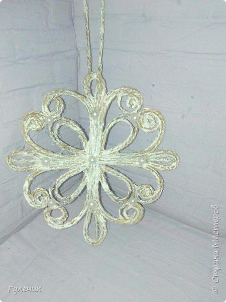 Снежинки по МК Валерии,обожаю эти работы)Легко и непринуждённо фото 2