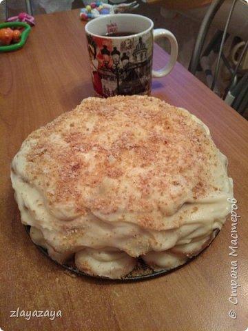 """Этот торт ещё называют """"Ленивый Наполеон"""" так как делается очень быстро и легко! Рецепт снизу. фото 3"""