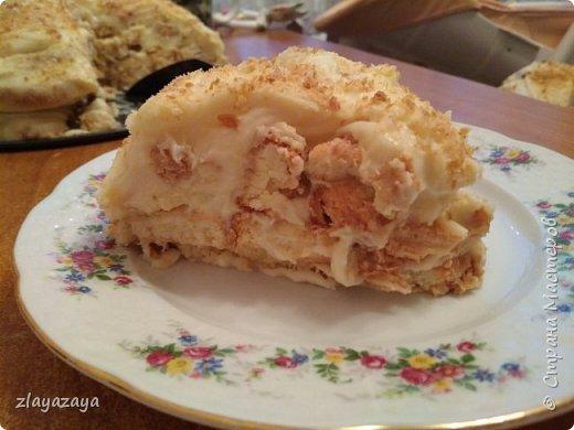 """Этот торт ещё называют """"Ленивый Наполеон"""" так как делается очень быстро и легко! Рецепт снизу. фото 1"""