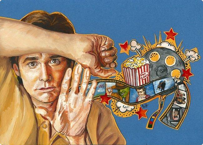 Портрет британской певицы Дуа Липы. Гуашь, 21х21, декор сухим глиттером и пайетками.  фото 2