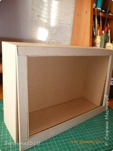 Всем привет. Моя миниатюра - цветочный магазин. И как обычно пояснения, как я это делаю. Итак нам понадобится: - основа румбокса ( у меня картонная коробка) - бумага, краски акриловые,  картон - деревянные палочки, палочки от мороженного - подвески, бусины, штифты, фурнитра для бижутерии - распечатки листьев, открыток, коробок и т.д. - клей столярный ПВА супер, клей момент кристалл, суперклей, клей  Титан - всякая всячина ( пуговицы, нитки и т.д.) -  фото 3