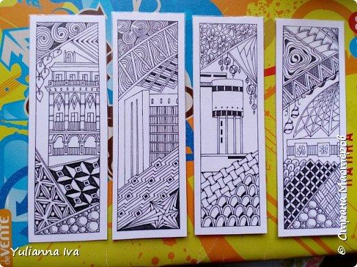 В прошлом году в записи про блокнот я показывала, что у меня нарисовались закладочки с видами любимого города. Я их наконец-то доделала, и показываю в готовом виде. Вот такие они получились))) фото 1