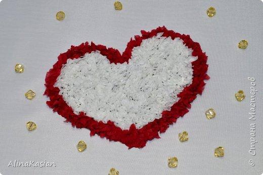 Валентинка в стиле торцевание фото 1