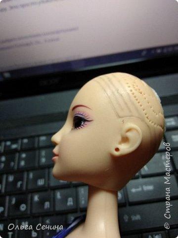 Первый раз перепрошила куклу! фото 2
