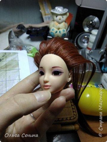 Первый раз перепрошила куклу! фото 5