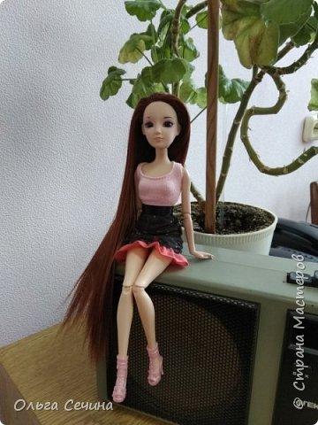 Первый раз перепрошила куклу! фото 9