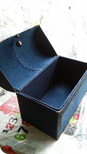 Ещё один сундук.Использовала картонную коробку. Уплотняла,конечно,картоном..люблю прочность. фото 3