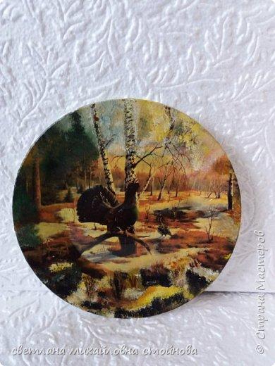 """Здравствуйте уважаемые жители Страны Мастеров...я опять с тарелочками...просто нравится мне с ними заниматься... """"Деревенские мотивы""""распечатка подрисовка... фото 2"""