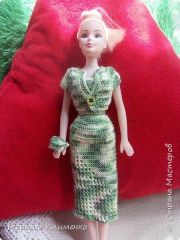 Вязаный костюм для куклы, два цвета фото 1