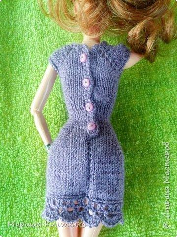 Вязаное платье для барби спицами фото 5