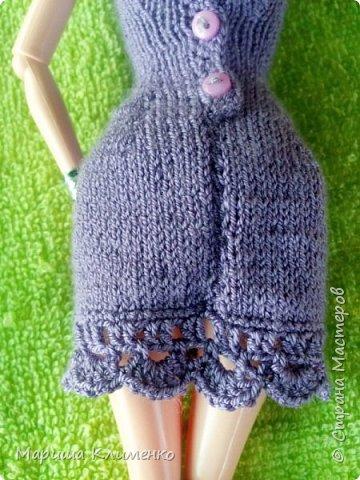 Вязаное платье для барби спицами фото 6