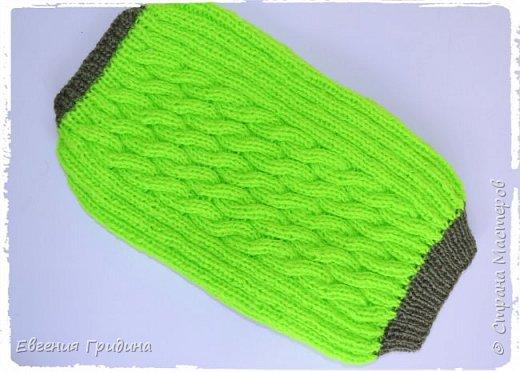 Яркий, теплый свитерок для собачки :)  Нитки акриловые, полушерсть.  фото 8