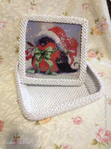 """Шкатулочки в технике корневого плетения, крышки оформлены в технике """"алмазные картины"""". 1. шкатулка с пионами фото 5"""