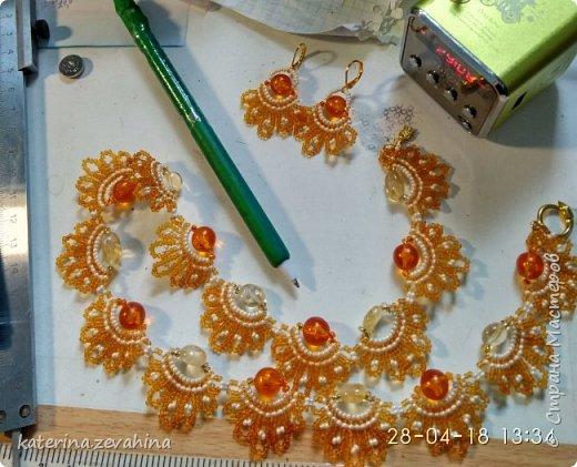 К своему юбилею наплела ожерелий. чтобы оделить всех гостей фото 3