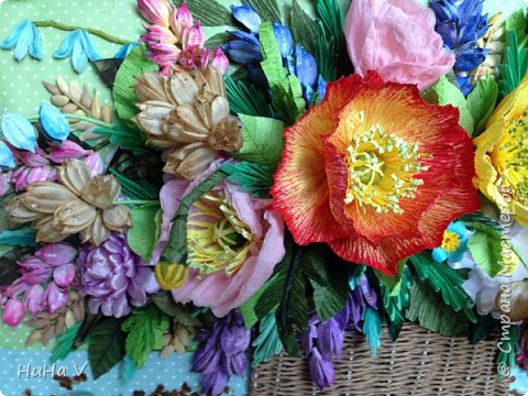 Корзинка с цветами  фото 8
