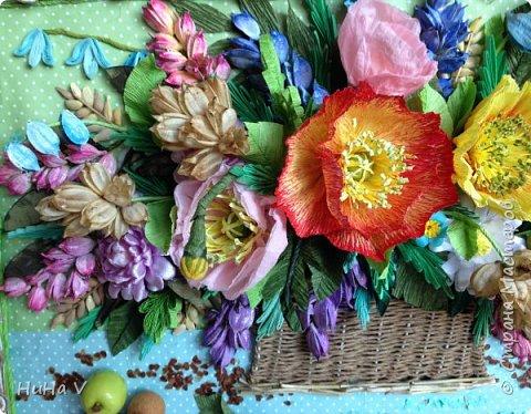 Корзинка с цветами  фото 6