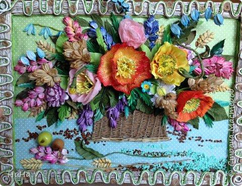 Корзинка с цветами  фото 4