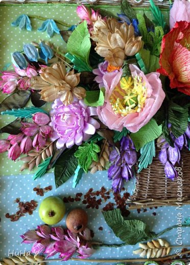 Корзинка с цветами  фото 13