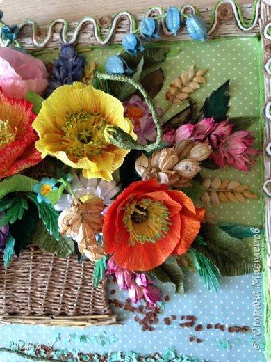Корзинка с цветами  фото 14