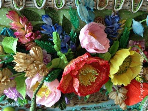 Корзинка с цветами  фото 15