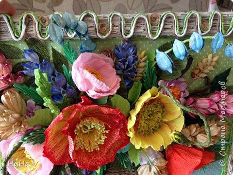 Корзинка с цветами  фото 10