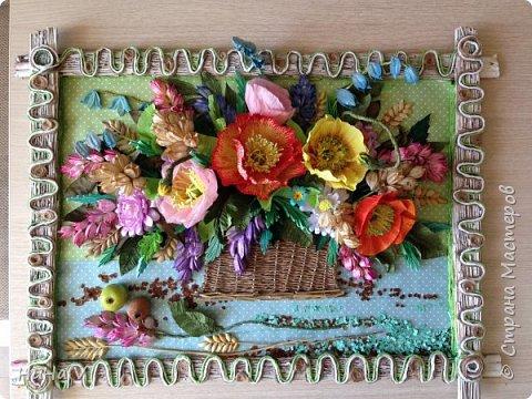 Корзинка с цветами  фото 16
